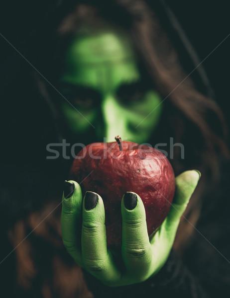 Witch strony jabłko zielone zgniły Zdjęcia stock © BigKnell