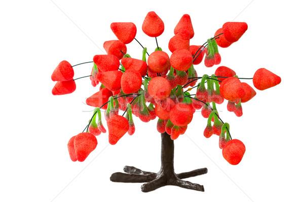 Drzewo truskawki żywności candy krople słodkie Zdjęcia stock © BigKnell