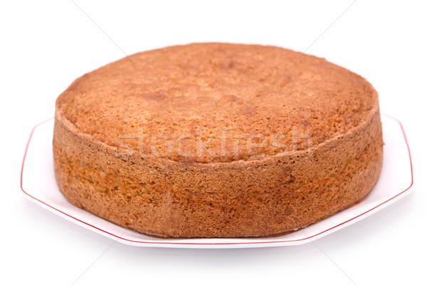 Piskóta házi készítésű izolált fehér étel torta Stock fotó © BigKnell