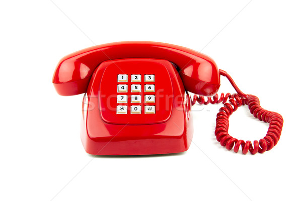 Old Red Telephone Stock photo © BigKnell