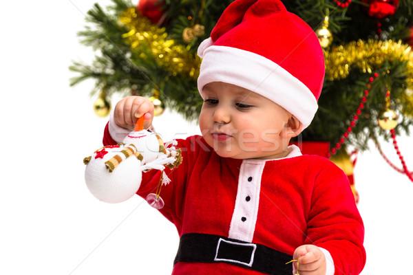 Christmas baby czerwony biały Święty mikołaj Zdjęcia stock © BigKnell