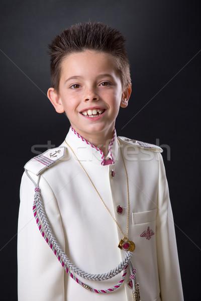 Zdjęcia stock: Młody · chłopak · uśmiechnięty · pierwszy · święty · komunii