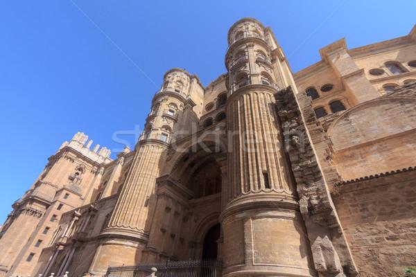 Malaga katedry południowy Hiszpania budynku budowy Zdjęcia stock © BigKnell