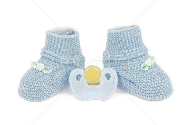 Azul bebê menino sapatos isolado Foto stock © BigKnell