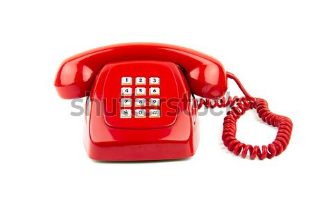 Czerwony starych telefon 1980 cyfrowe Zdjęcia stock © BigKnell