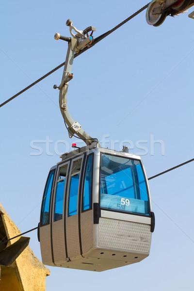 Cabine ver céu azul viajar cabos Foto stock © BigKnell