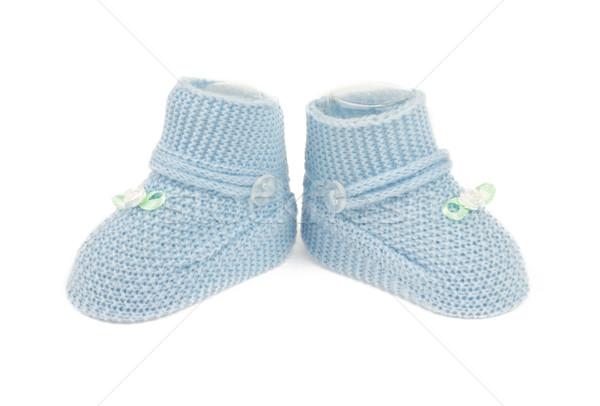 Niebieski baby chłopca buty odizolowany Zdjęcia stock © BigKnell