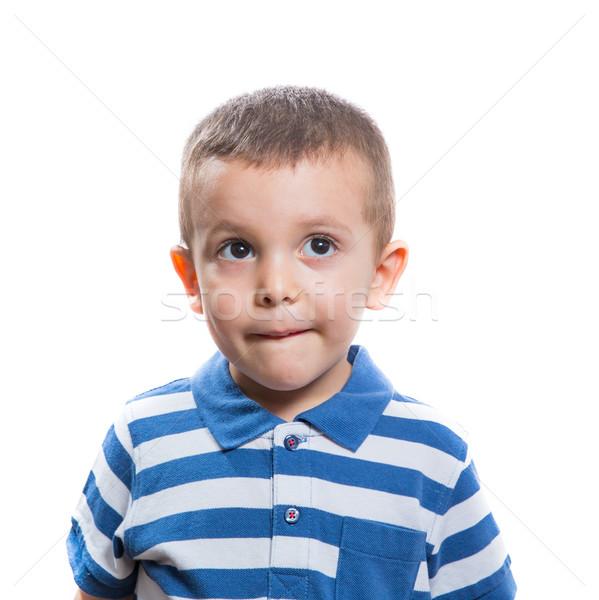 Dubious little boy Stock photo © BigKnell