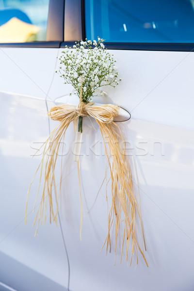 свадьба автомобилей украшение украшенный цветы природы Сток-фото © BigKnell