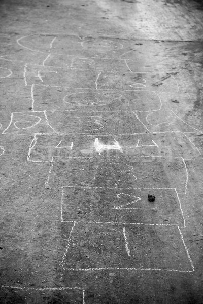 Zdjęcia stock: Gry · na · zewnątrz · drogowego · powierzchnia · biały