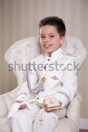 Young boy in his First Communion Stock photo © BigKnell
