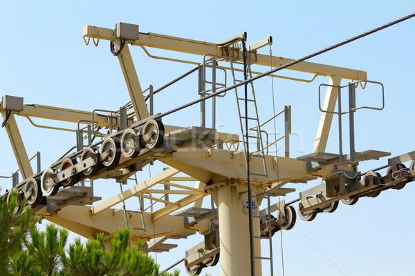 Zdjęcia stock: Mechanizm · niebieski · podróży · kabli