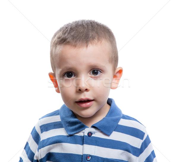 Little boy looking Stock photo © BigKnell