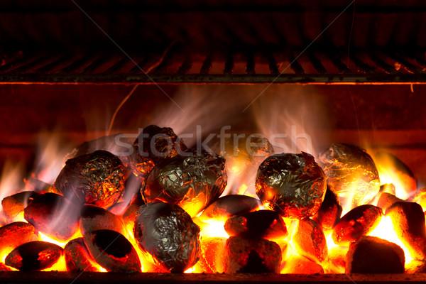 Ziemniaki gotowany grill świetle Zdjęcia stock © BigKnell