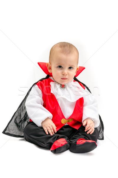 Baby wampira mały chłopca dracula kostium Zdjęcia stock © BigKnell