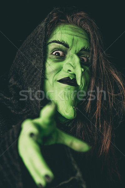 Evil witch casting a curse Stock photo © BigKnell
