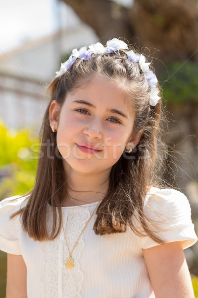 Stock photo: Young girl smiling