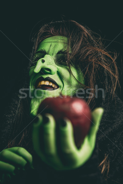 Evil witch laughing Stock photo © BigKnell