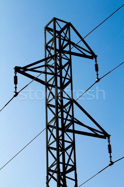 Wieża miasta metal niebieski miejskich Zdjęcia stock © BigKnell