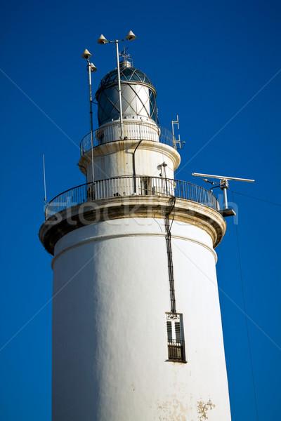Malaga lighthouse Stock photo © BigKnell