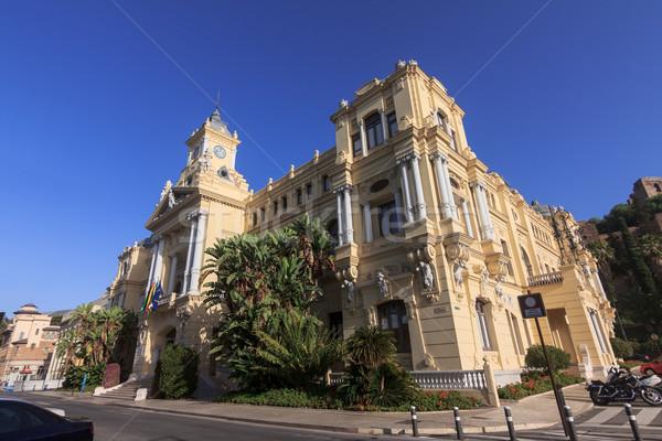Malaga miasta sali Hiszpania Błękitne niebo budynku Zdjęcia stock © BigKnell