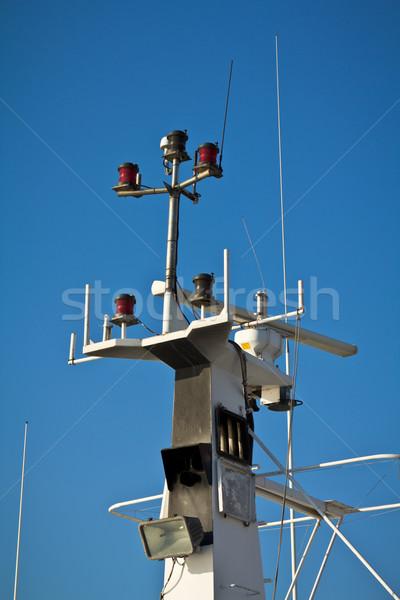Navio navegação blue sky céu tecnologia azul Foto stock © BigKnell