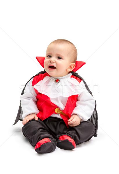 Baba vámpír kicsi fiú drakula jelmez Stock fotó © BigKnell