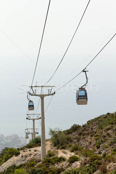 Cableway of city near sea Stock photo © BigKnell