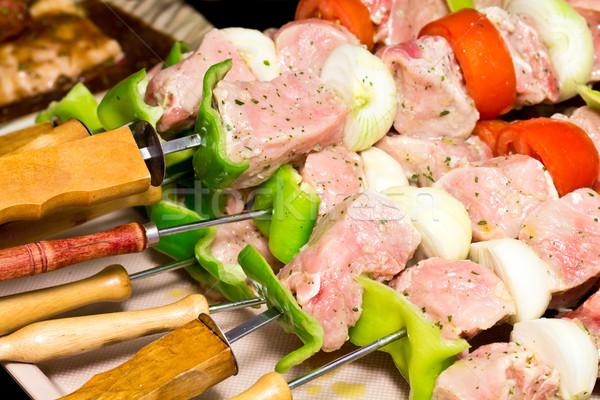Surowy żywności lata zielone gotowania jeść Zdjęcia stock © BigKnell