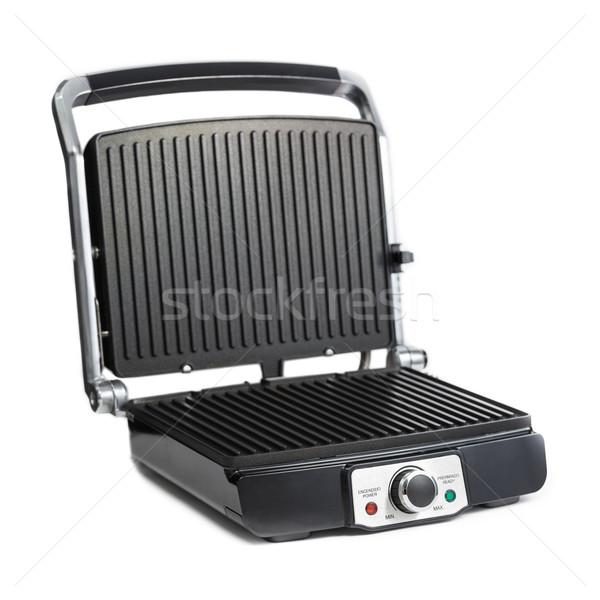 Opiekacz czarny srebrny odizolowany biały metal Zdjęcia stock © BigKnell