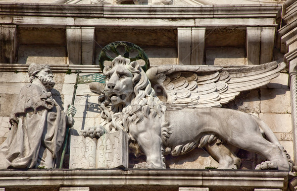Saint Marks Winged Lion Statues Venice Italy Stock photo © billperry