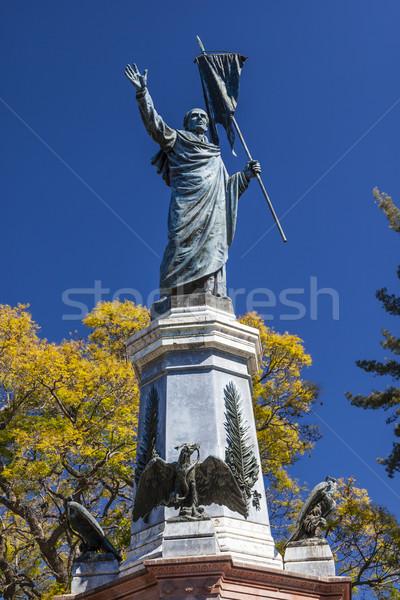 Pai fora catedral estátua México guerra Foto stock © billperry