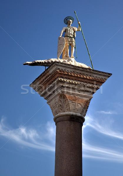 Saint Theodore Column Venice Italy Stock photo © billperry