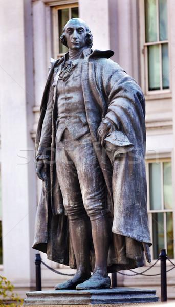 Estátua tesouraria departamento Washington DC corrida Nova Iorque Foto stock © billperry
