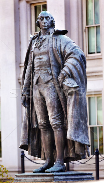 Albert Gallatin Statue US Treasury Department Washington DC Stock photo © billperry
