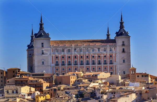 Alcazar Fortress Medieval City Toledo Spain Stock photo © billperry
