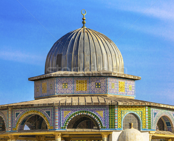 Small Shrine Dome of the Rock Islamic Mosque Temple Mount Jerusa Stock photo © billperry