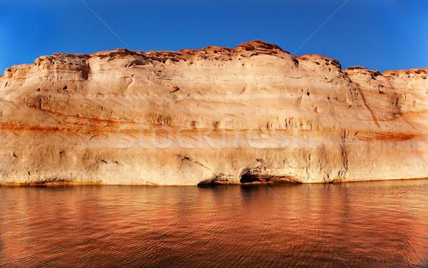 Kanyon tükröződés tó Arizona fehér bronz Stock fotó © billperry