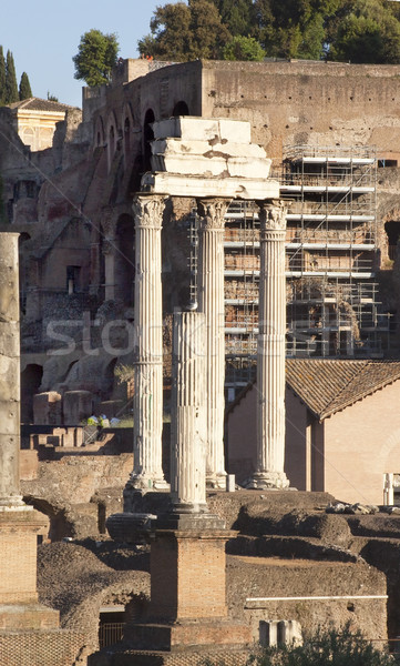 Temple of Castor and Pollux Forum Rome Italy Stock photo © billperry