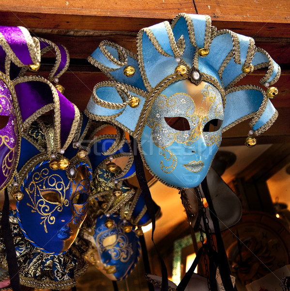 Blue Venetian Masks Venice Italy Stock photo © billperry
