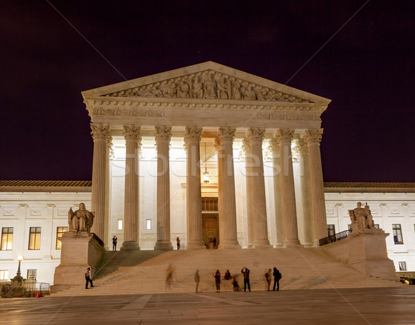 US Supreme Court Capitol Hill Night Stars Washington DC Stock photo © billperry