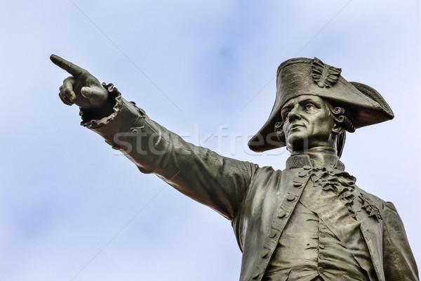 General Rochambeau Statue Lafayette Park Autumn Washington DC Stock photo © billperry