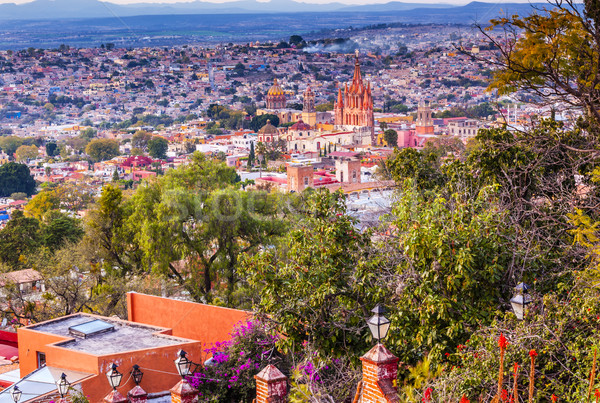 San Miguel de Allende Mexico Miramar Overlook Wide Evening Parro Stock photo © billperry