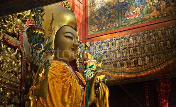 Zhong Ke Ba Details Yonghe Gong Buddhist Temple Beijing China Stock photo © billperry