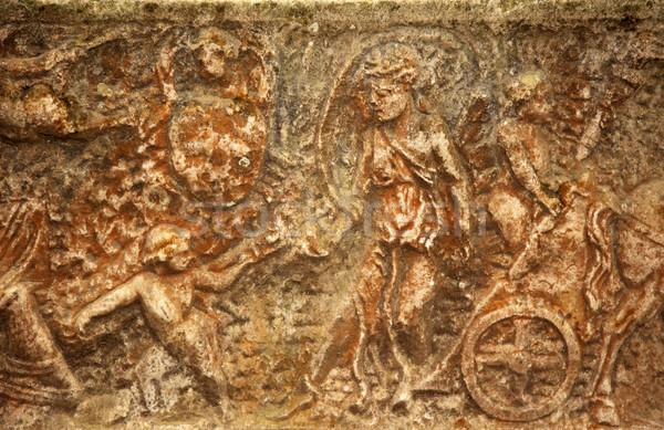Romeinse begrafenis vak Rome Italië oude Stockfoto © billperry