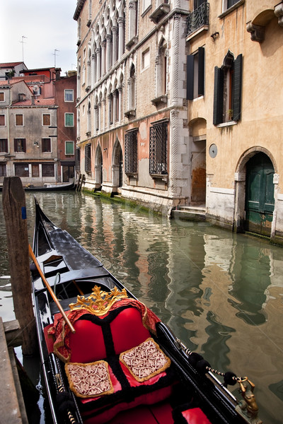 Small Side Canal Bridge Gondola Venice Italy Stock photo © billperry