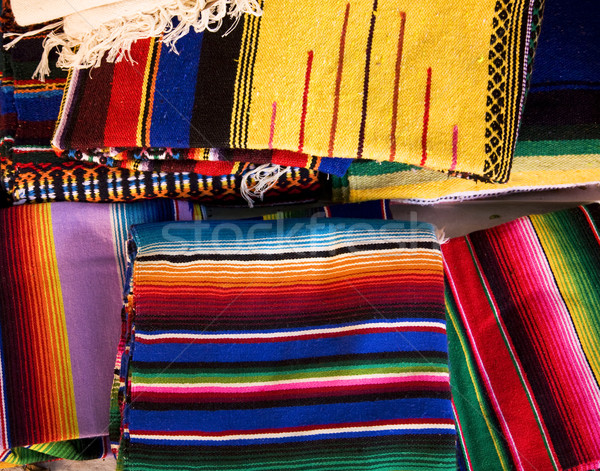 Colorful Mexican Blankets Stock photo © billperry