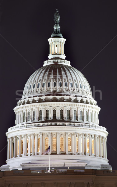 US Capitol Dome Close Up Night Washington DC Stock photo © billperry