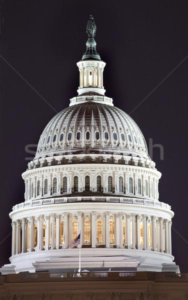 Kopuła noc Washington DC kongres domu Zdjęcia stock © billperry