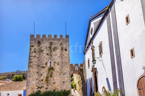 Церкви замок стен Португалия средневековых города Сток-фото © billperry